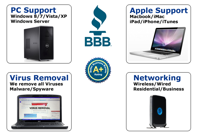 Computer Repair and Virus Removal for PC or Mac
